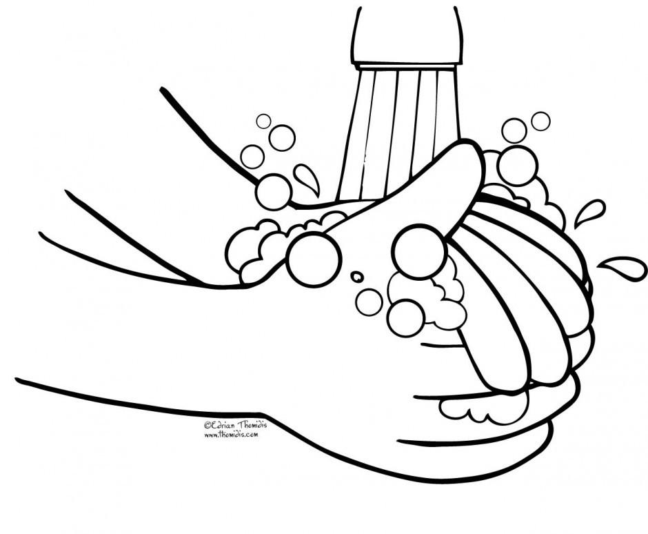 Handwashing Coloring Pages  Hand Washing Keep Your Hand Clean Coloring Pages Coloring