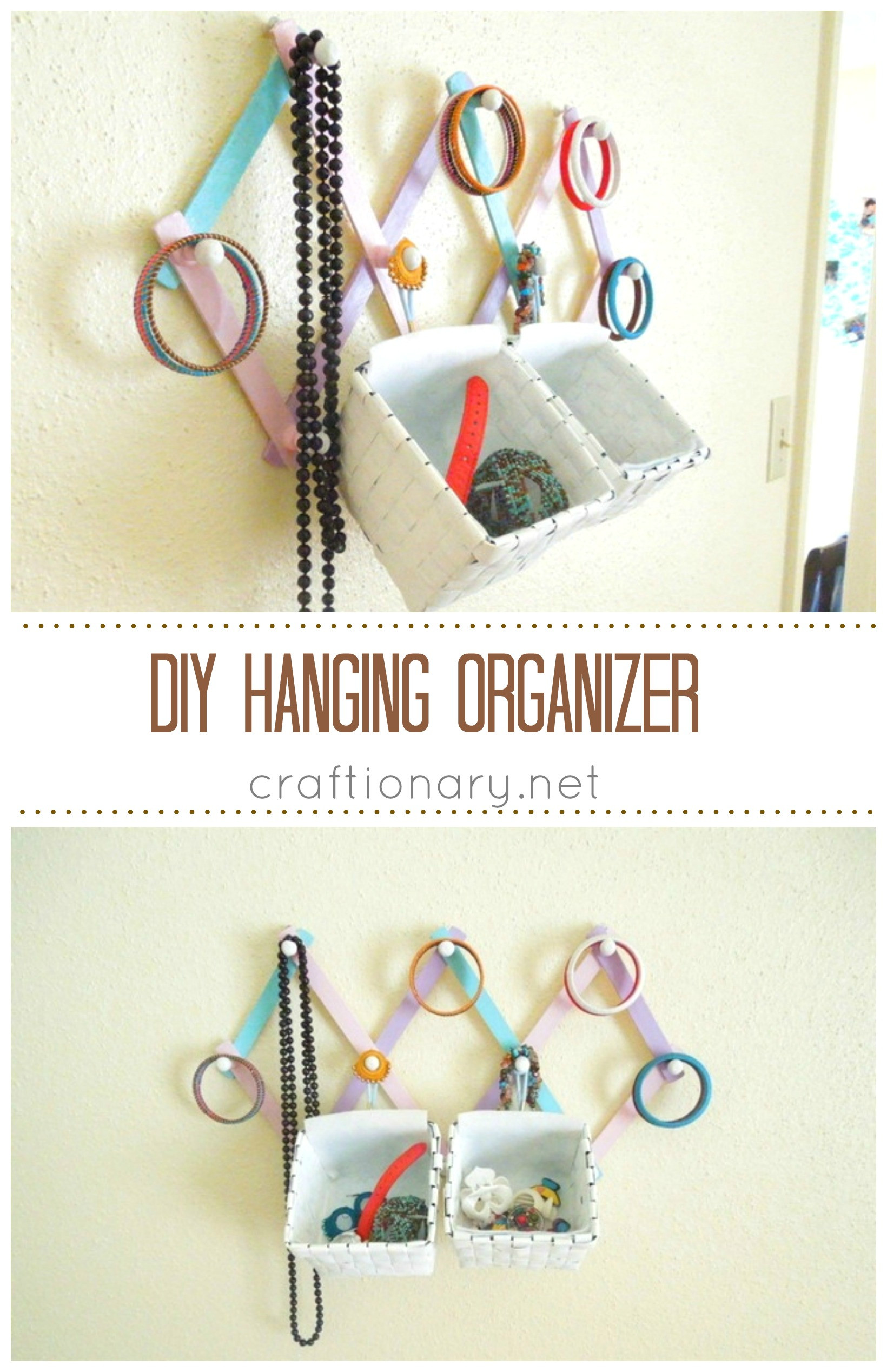 Hanging Jewelry Organizer DIY  Craftionary