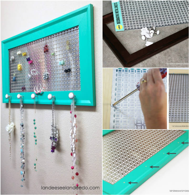 Hanging Jewelry Organizer DIY  100 DIY Jewelry Organizers & Storage Ideas Full
