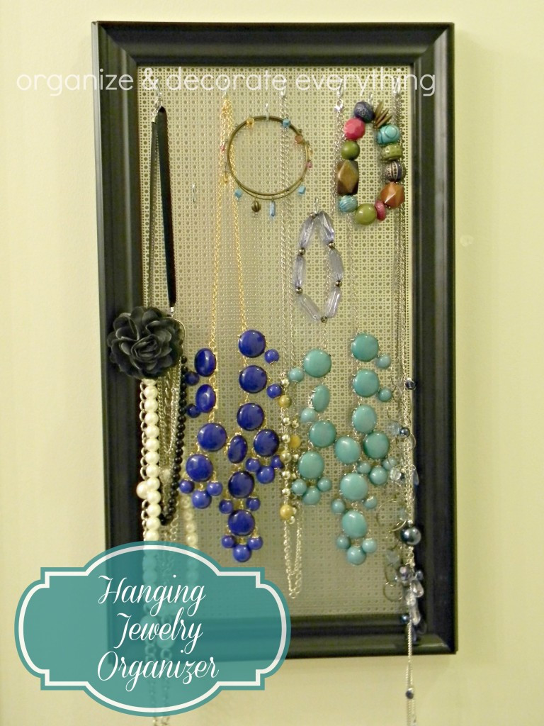 Hanging Jewelry Organizer DIY  Day 22 Necklaces Part 2 31 Cheap & Easy DIY Organizers