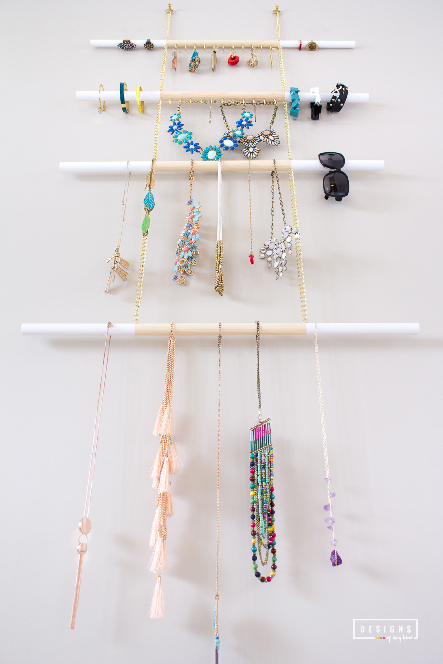 Hanging Jewelry Organizer DIY  DIY Modern Hanging Jewelry Organizer Designs of Any Kind