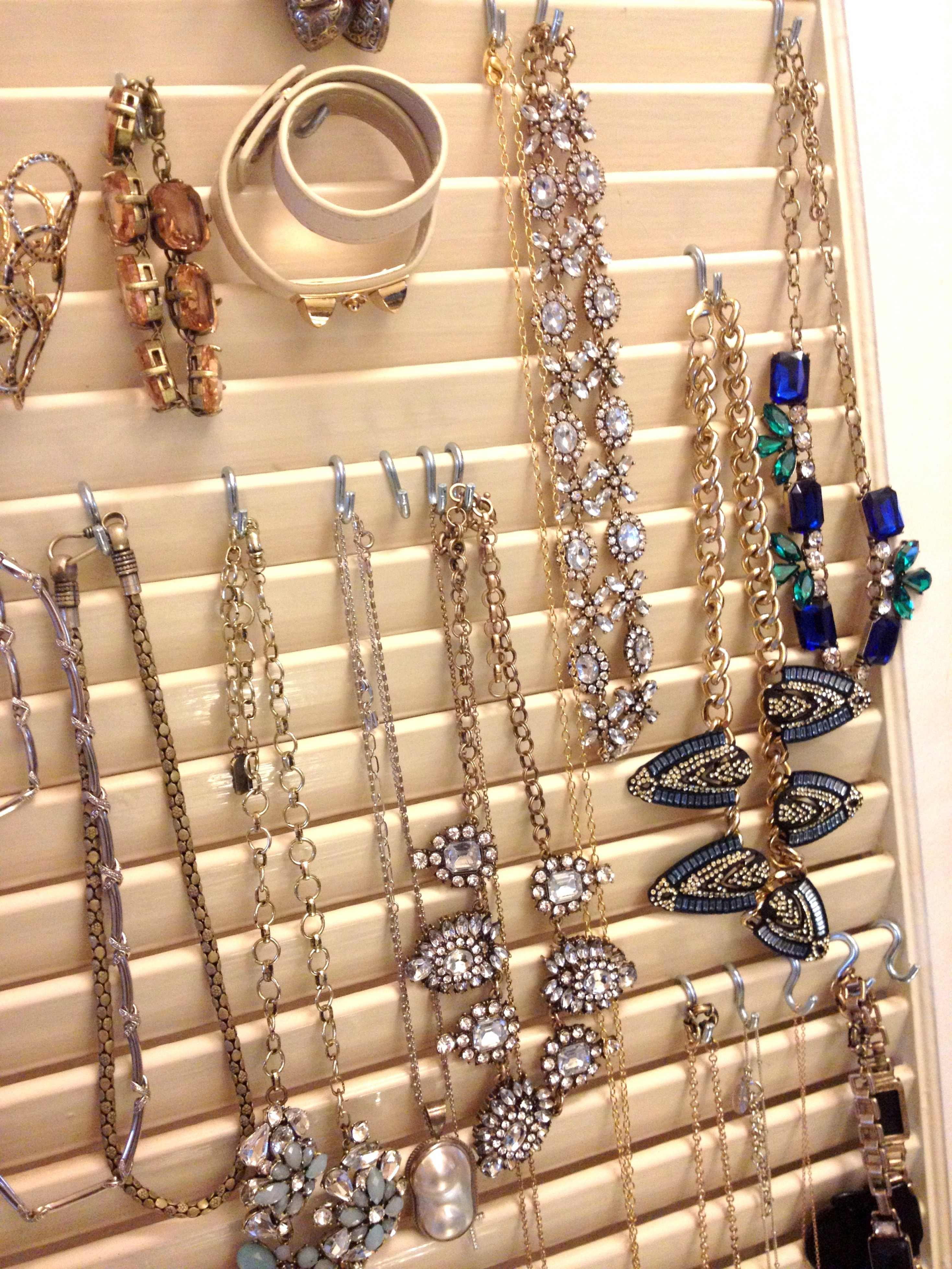 Hanging Jewelry Organizer DIY  Diy Jewelry Organizer Board