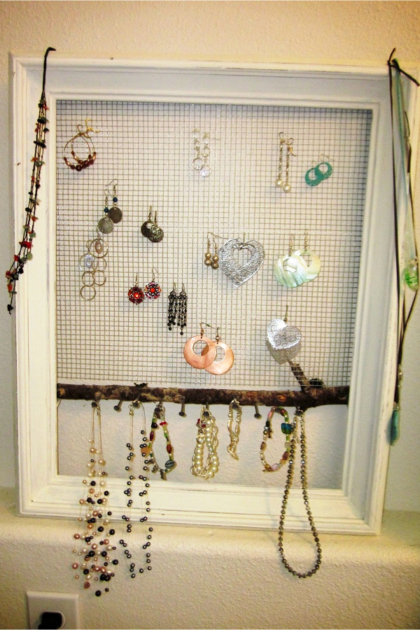 Hanging Jewelry Organizer DIY  Hanging Jewelry Organizer Ideas Involvery