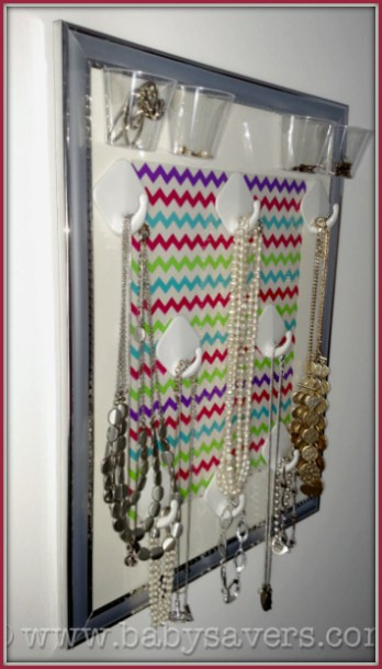Hanging Jewelry Organizer DIY  How to Make a DIY hanging jewelry organizer for under $10