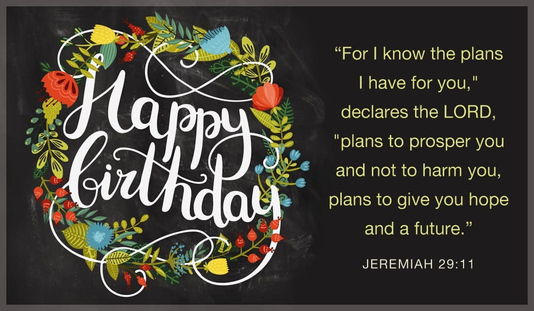 Best ideas about Happy Birthday Bible Quotes . Save or Pin Free Happy Birthday Jeremiah 29 11 eCard eMail Free Now.