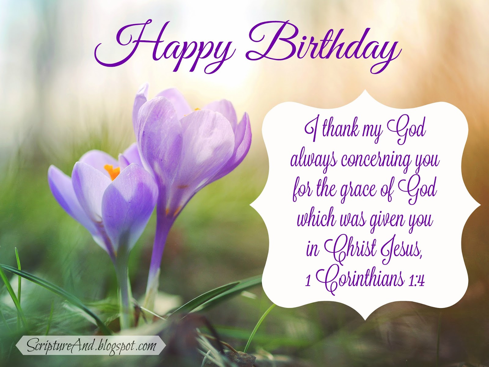 Best ideas about Happy Birthday Bible Quotes . Save or Pin Scripture and Free Birthday with Bible Verses Now.