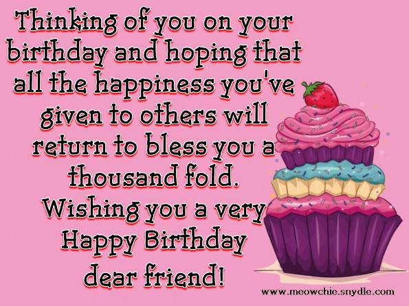 Best ideas about Happy Birthday Friendship Quotes . Save or Pin Happy Birthday Quotes And Messages QuotesGram Now.
