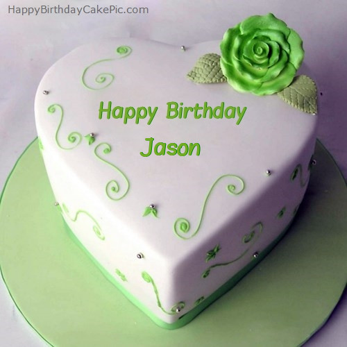 Best ideas about Happy Birthday Jason Cake . Save or Pin Green Heart Birthday Cake For Jason Now.