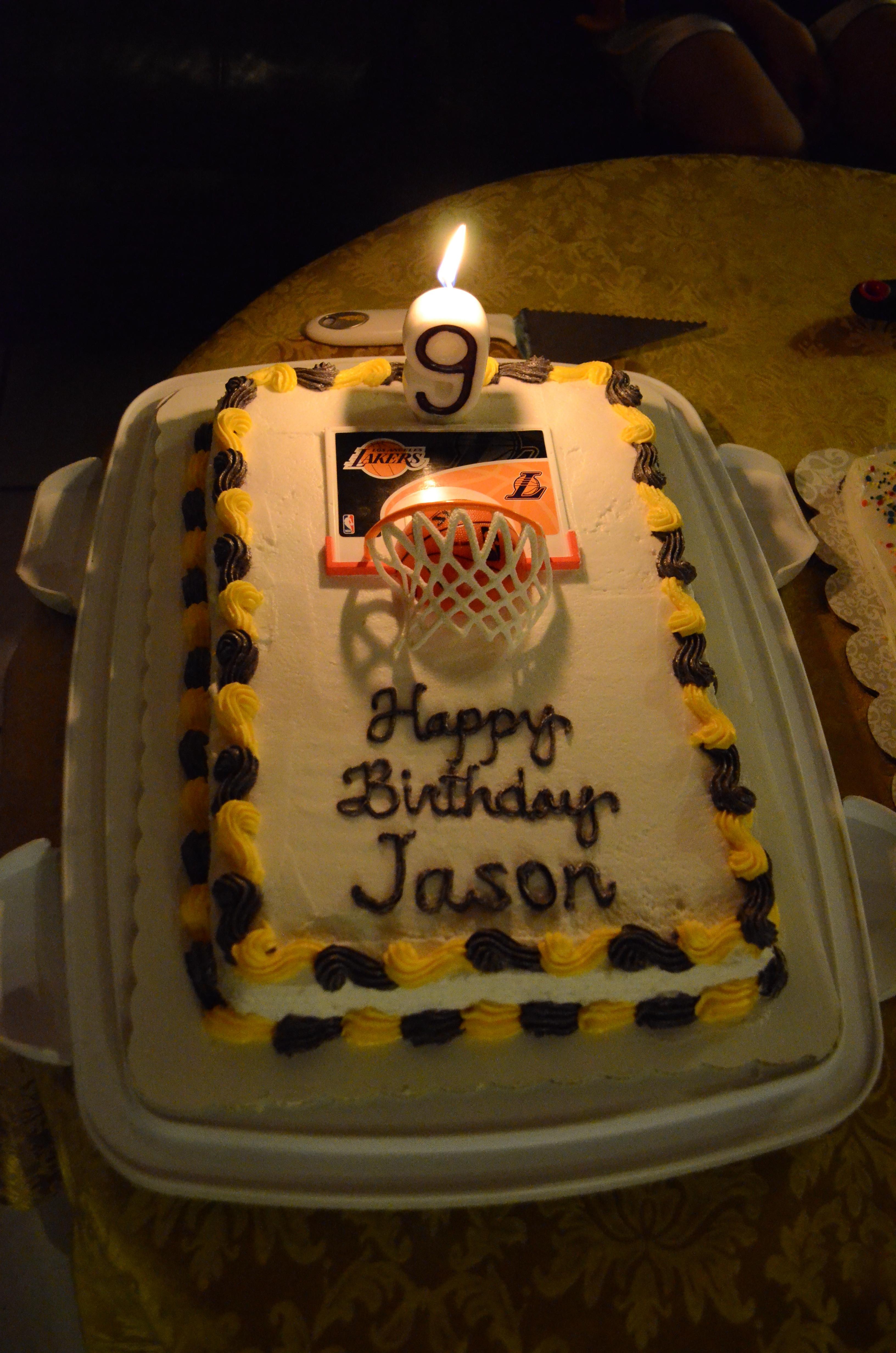 Best ideas about Happy Birthday Jason Cake . Save or Pin Happy Birthday Jason Lakers Cake CakeCentral Now.
