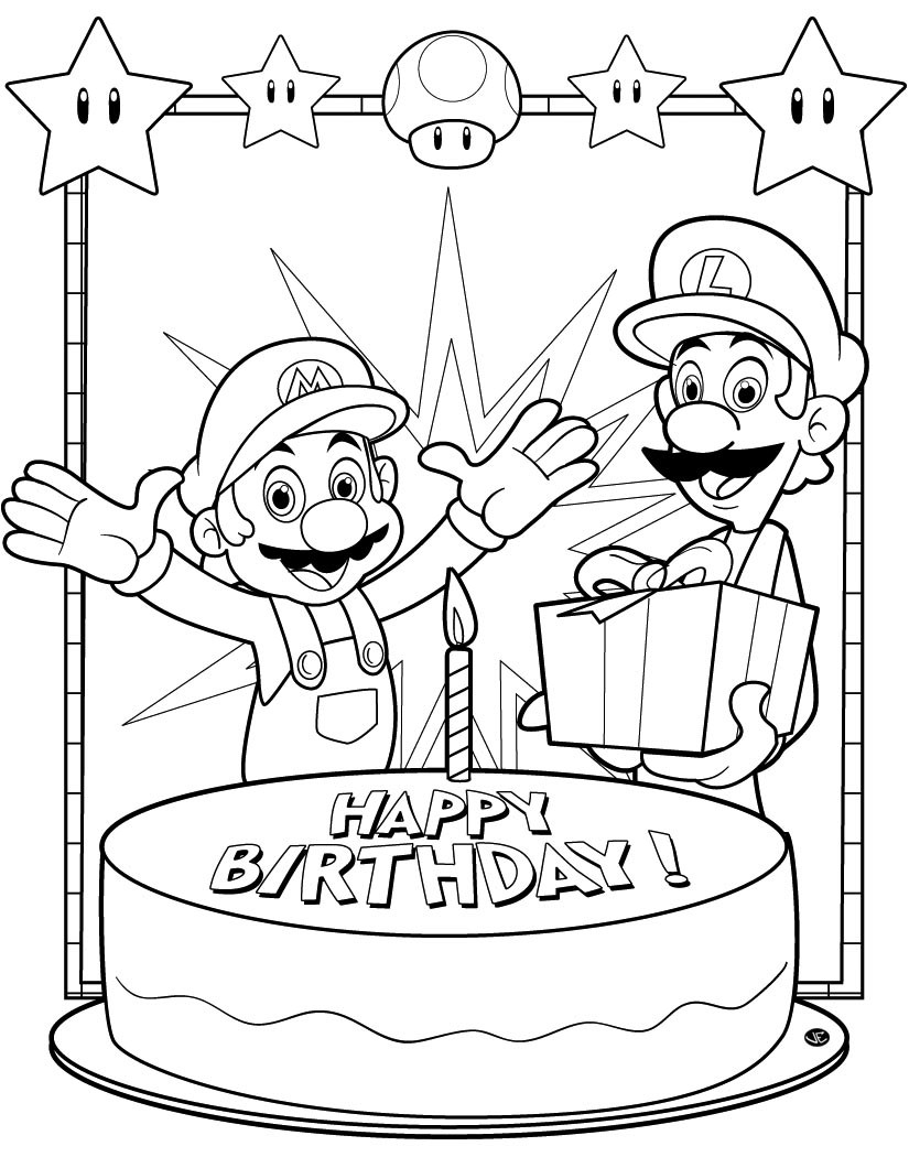 Best ideas about Happy Birthday Printable Coloring Pages . Save or Pin happy birthday coloring pages Now.