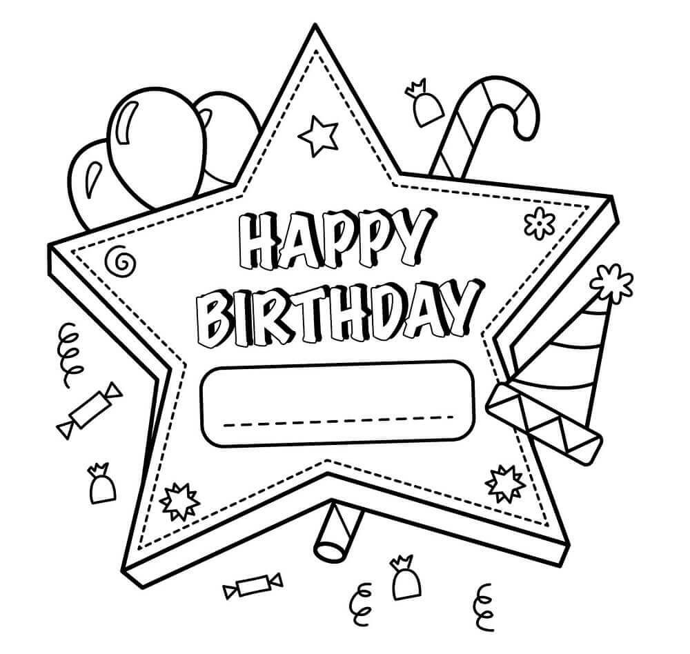 Best ideas about Happy Birthday Printable Coloring Pages . Save or Pin 25 Free Printable Happy Birthday Coloring Pages Now.