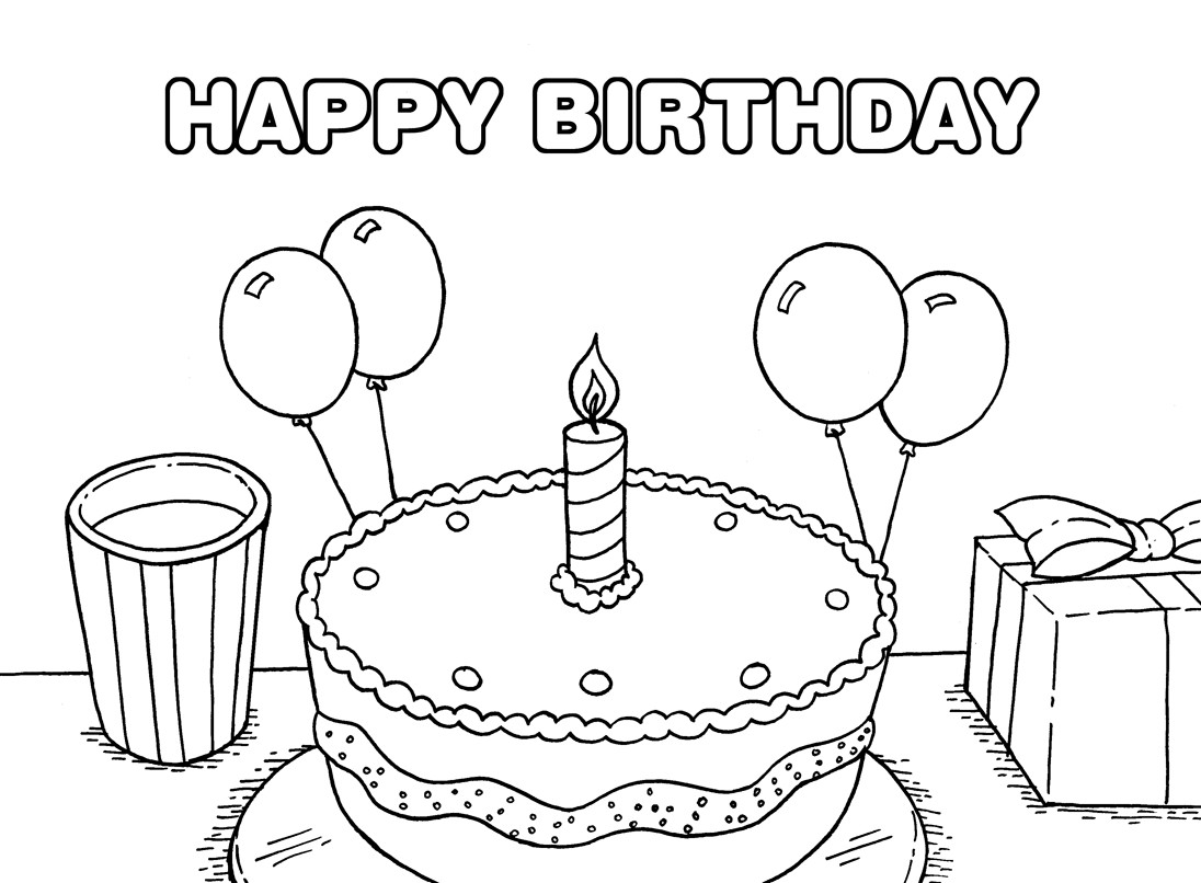 Best ideas about Happy Birthday Printable Coloring Pages . Save or Pin 40 Free Printable Happy Birthday Coloring Pages Coloring Now.