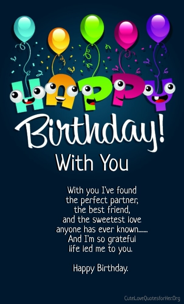 Happy Birthday Quotes For Her  12 Happy Birthday Love Poems for Her & Him with