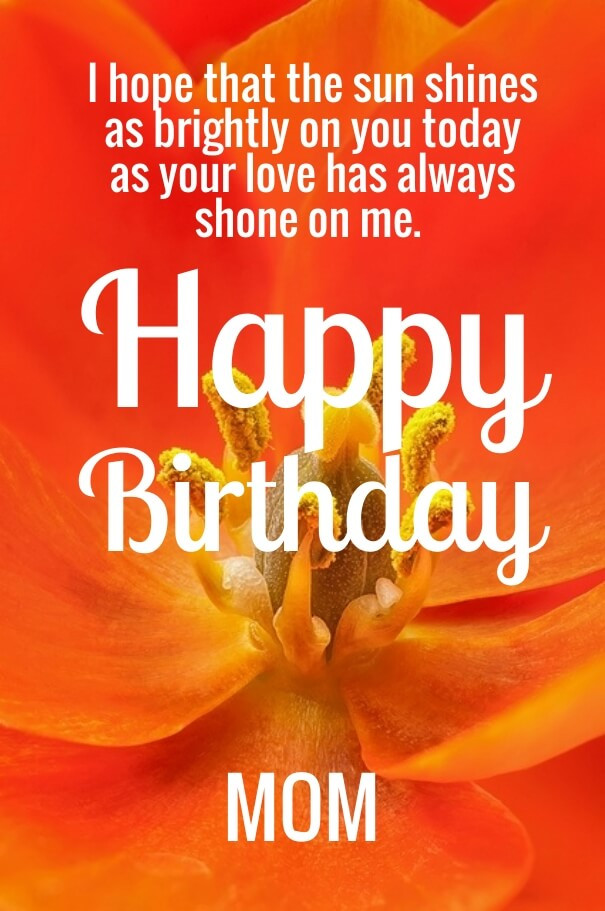 Happy Birthday Quotes For Her  Cute Happy Birthday Mom Quotes with