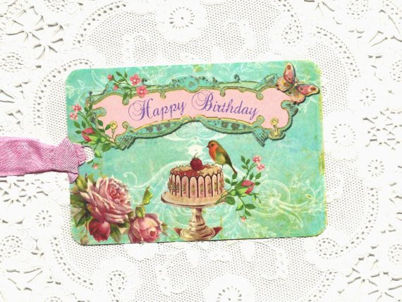 Best ideas about Happy Birthday Shabby Chic . Save or Pin Gift Tags Happy Birthday Shabby Chic Style Now.