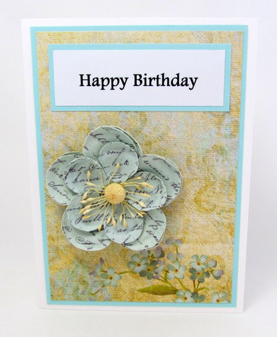 Best ideas about Happy Birthday Shabby Chic . Save or Pin Happy Birthday Card Shabby Chic Birthday Card Floral Now.