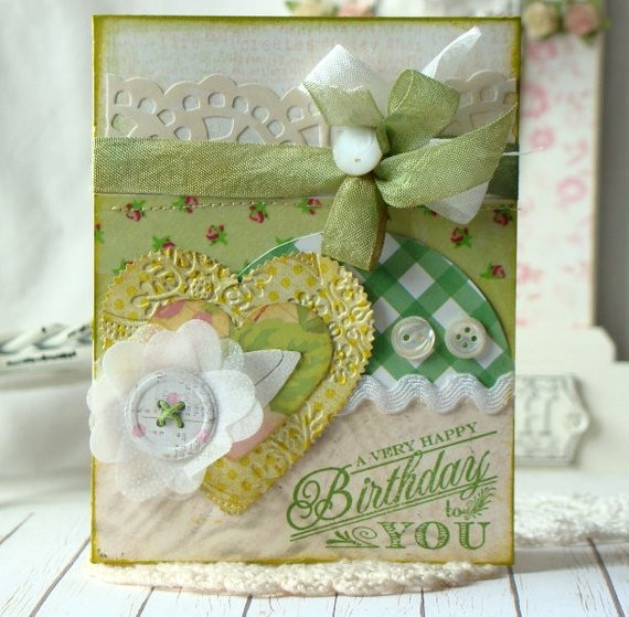 Best ideas about Happy Birthday Shabby Chic . Save or Pin SALE A Very Happy Birthday Shabby Chic Handmade by Now.