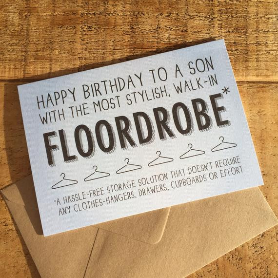 Best ideas about Happy Birthday Son Funny . Save or Pin Happy Birthday Son Card Son Card Card for Teenager Son Now.