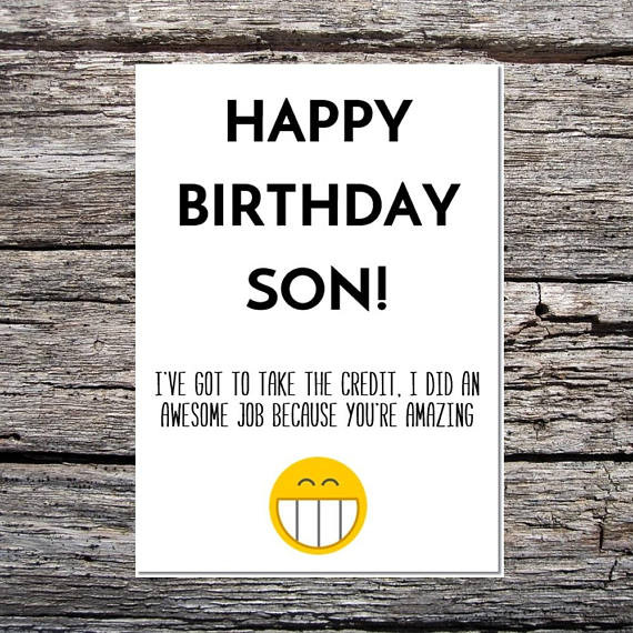 Best ideas about Happy Birthday Son Funny . Save or Pin son birthday card funny son birthday card funny happy Now.