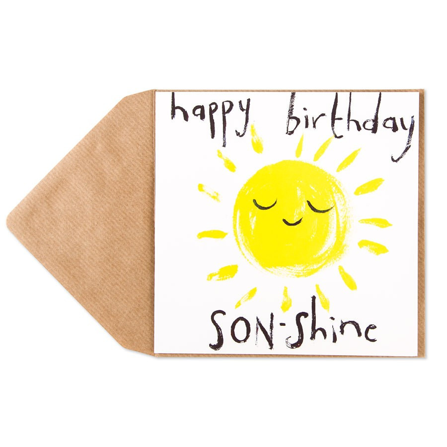Best ideas about Happy Birthday Son Funny . Save or Pin Son Shine Birthday Card For Son Now.