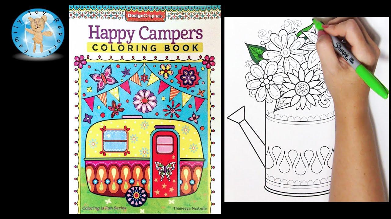 Happy Campers Coloring Book  Design Originals Happy Campers Adult Coloring Book