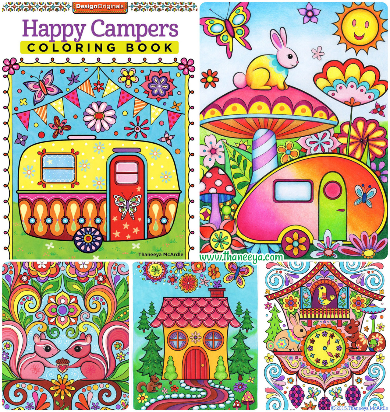 Happy Campers Coloring Book  Thaneeya McArdle s Tumblr • Ooh my Happy Campers Coloring