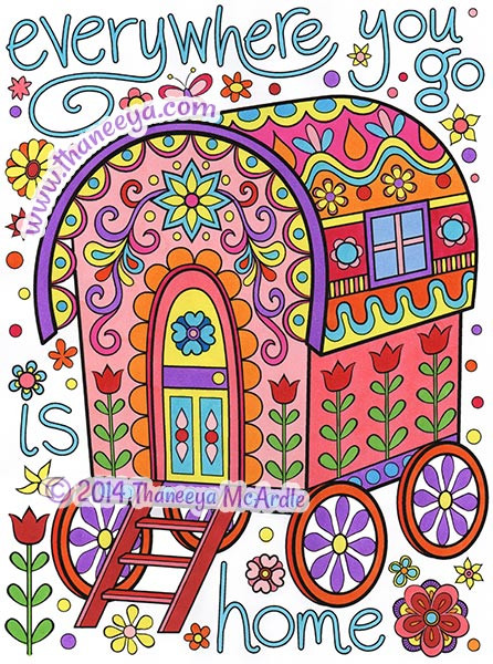 Happy Campers Coloring Book  Happy Campers Coloring Book by Thaneeya McArdle — Thaneeya