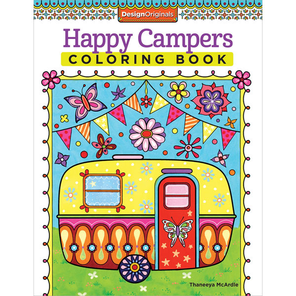 Happy Campers Coloring Book  Happy Campers Coloring Book