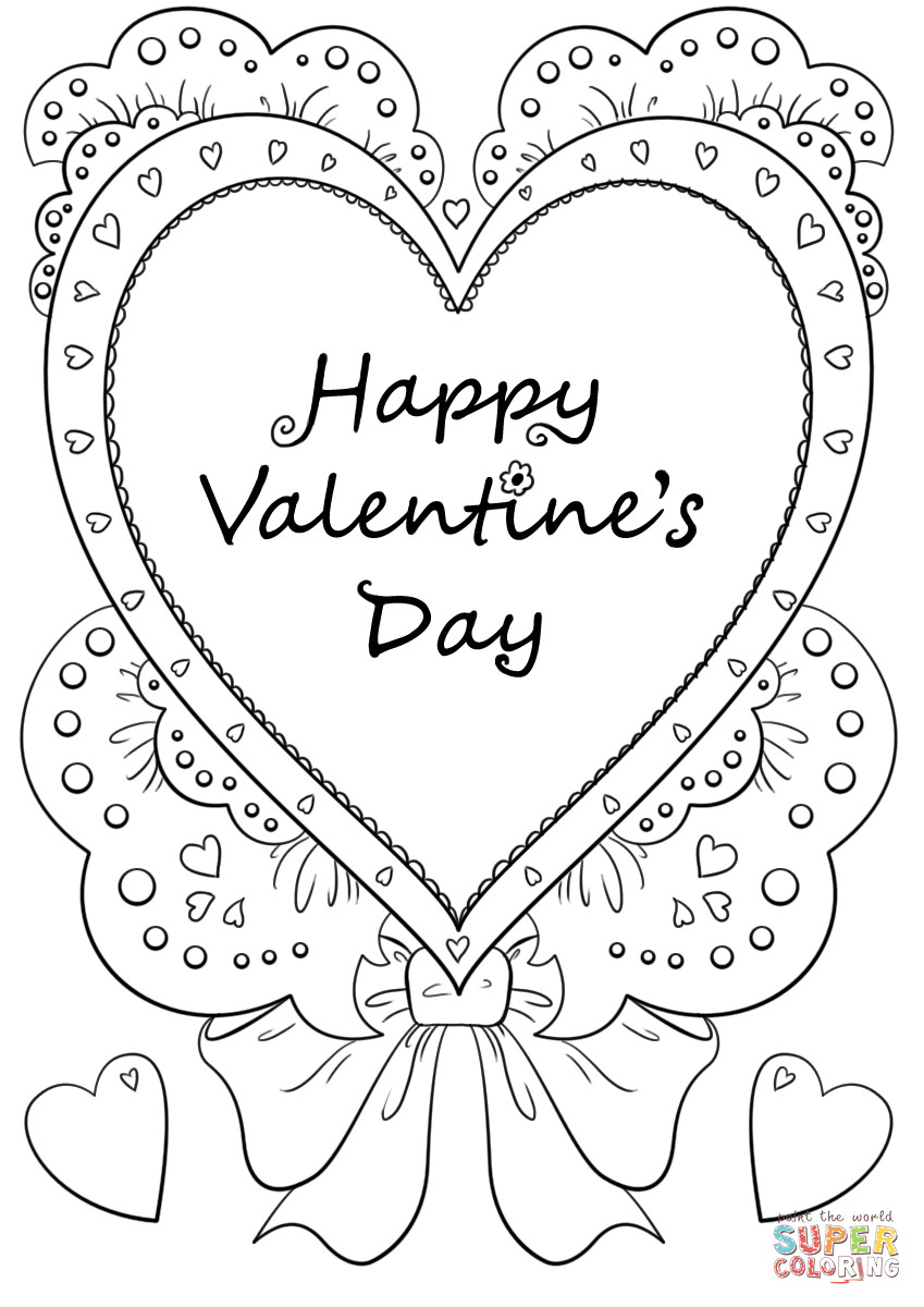 Happy Valentines Day Coloring Pages  Happy Valentine s Day coloring page