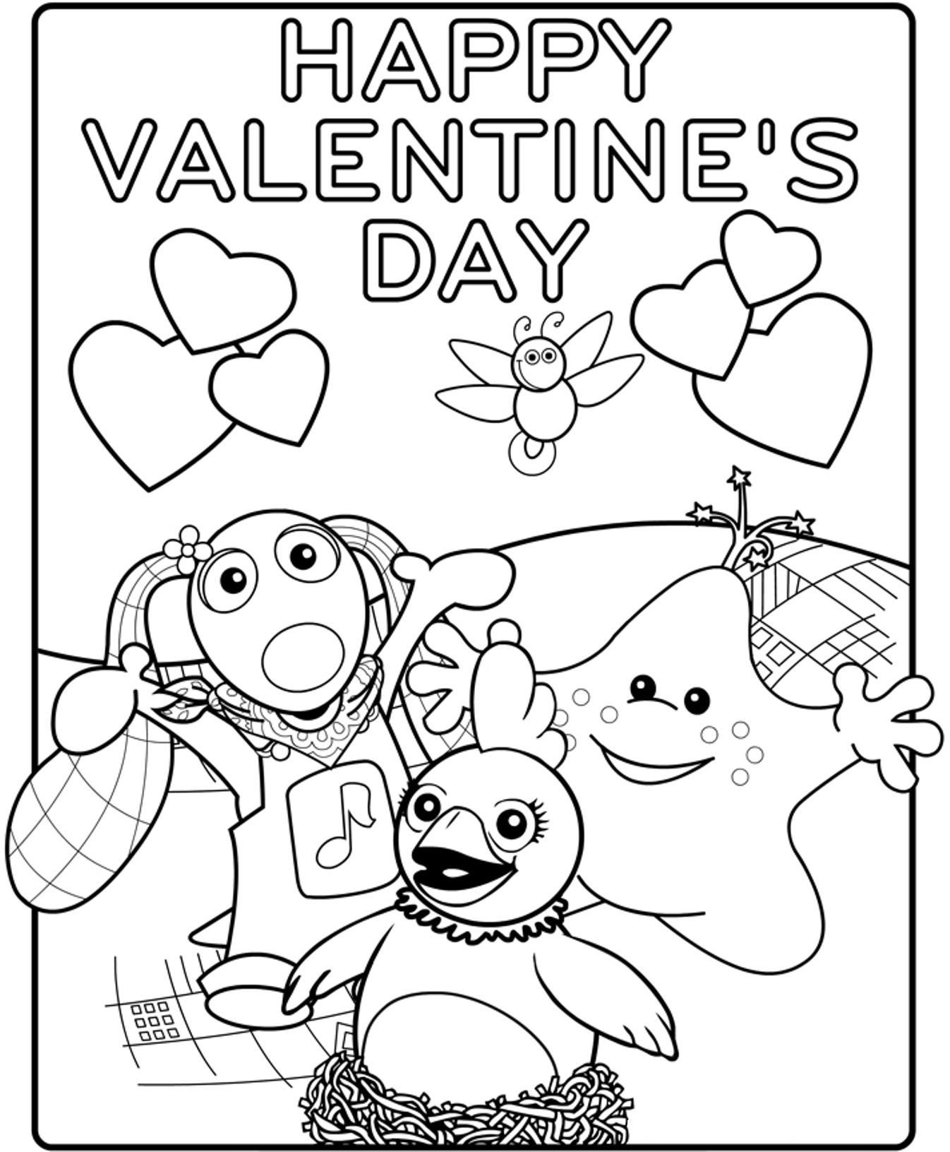 Happy Valentines Day Coloring Pages  Printable Happy Valentines Coloring Pages Coloring Home