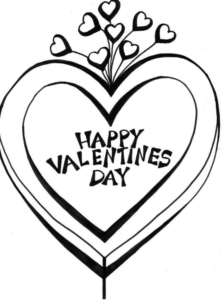Happy Valentines Day Coloring Pages  Happy Valentines Day Coloring Pages Best Coloring Pages