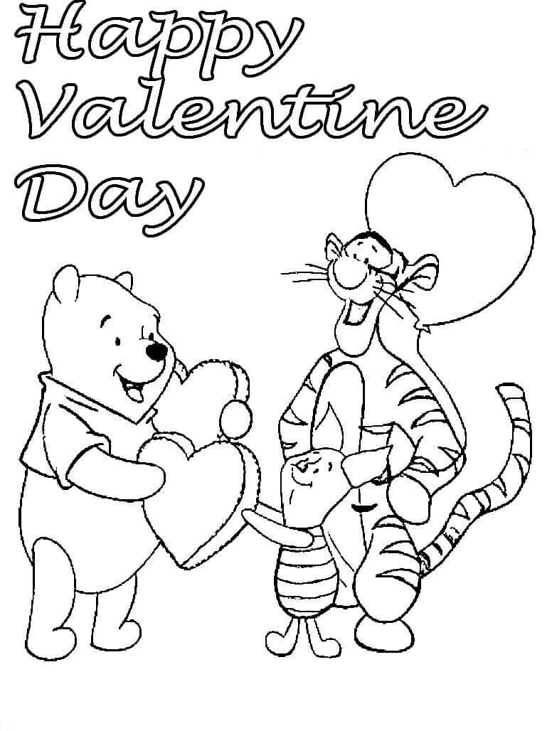 Happy Valentines Day Coloring Pages  Free Printable Valentine s Day Coloring Pages