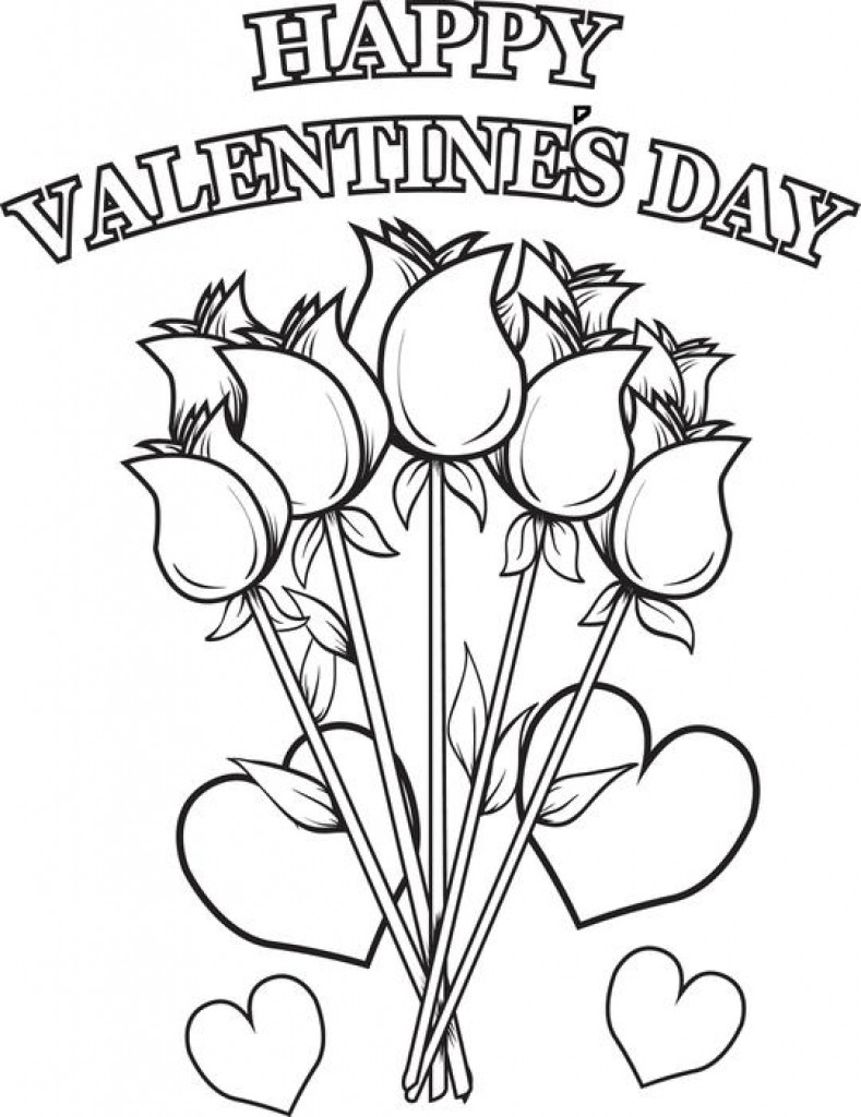 Happy Valentines Day Coloring Pages  Valentine Day Coloring Pages coloringsuite