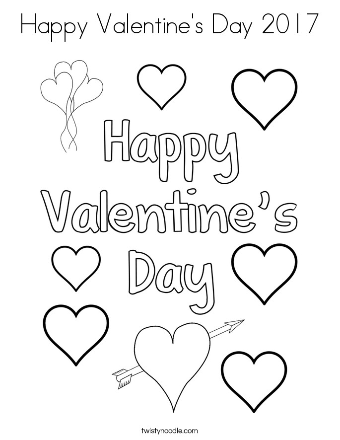 Happy Valentines Day Coloring Pages  Happy Valentines Day Coloring Valentine's Day