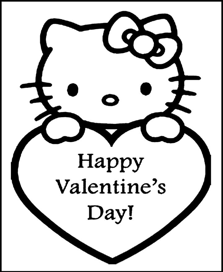 Happy Valentines Day Coloring Pages  Happy Valentines Day Coloring Pages AZ Coloring Pages