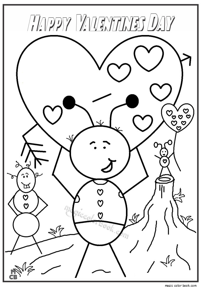 Happy Valentines Day Coloring Pages  Happy Valentines Day Coloring Pages Printable Games Sketch