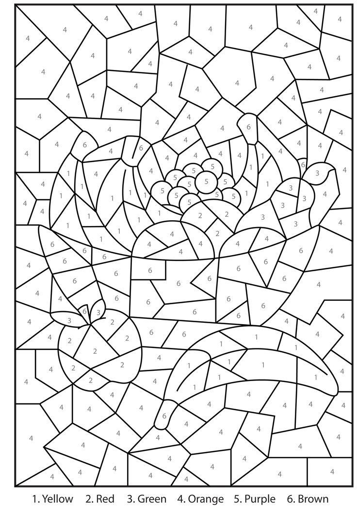 Hard Printable Coloring Pages  Difficult Color By Number Printables Coloring Home