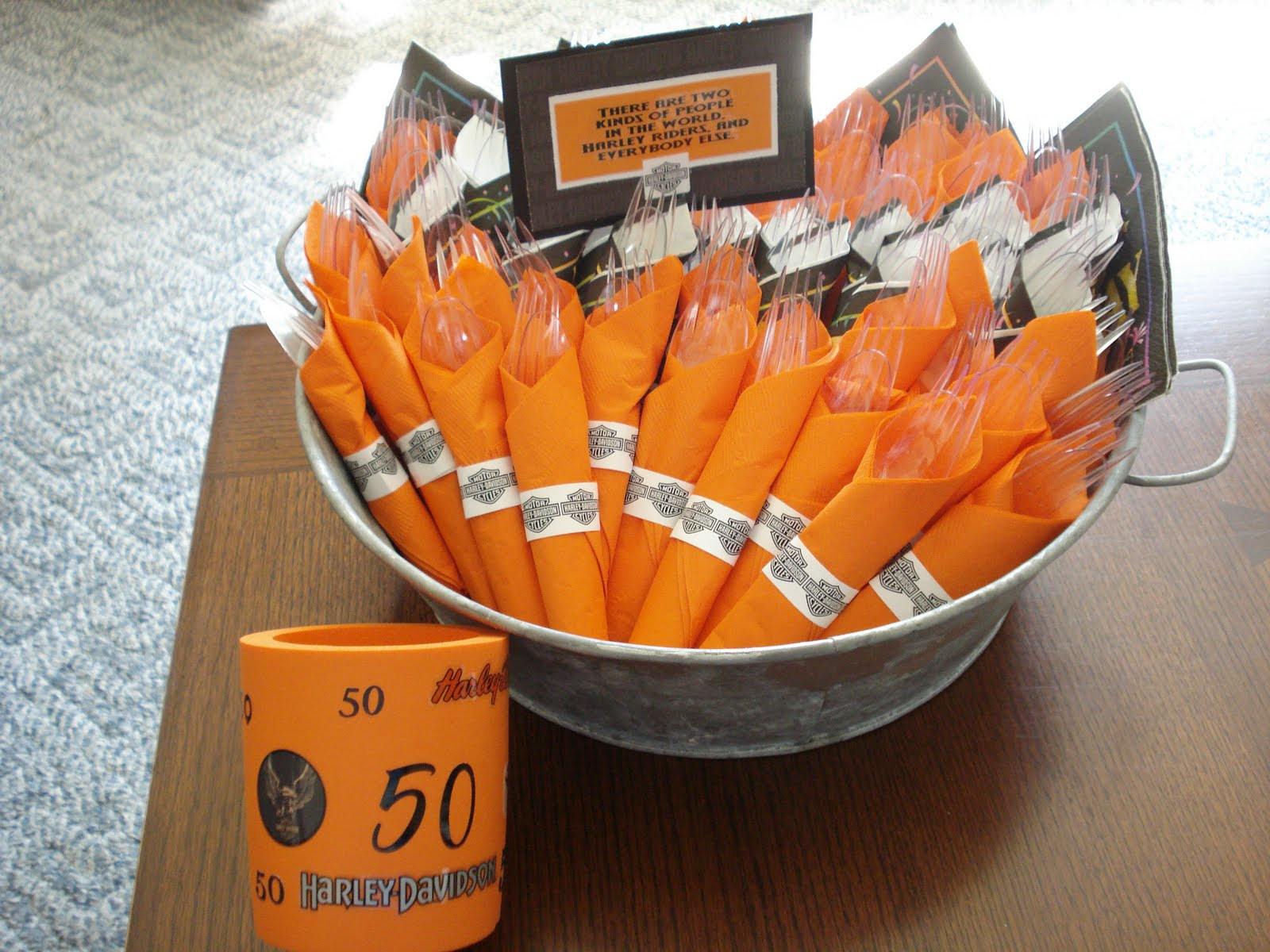 Best ideas about Harley Davidson Birthday Decorations . Save or Pin Our Hobby House Harley Davidson 50th Birthday Party Now.