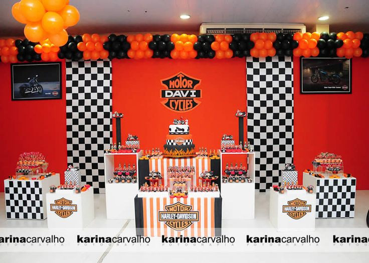 Best ideas about Harley Davidson Birthday Decorations . Save or Pin 17 best images about Harley Davidson Party on Pinterest Now.