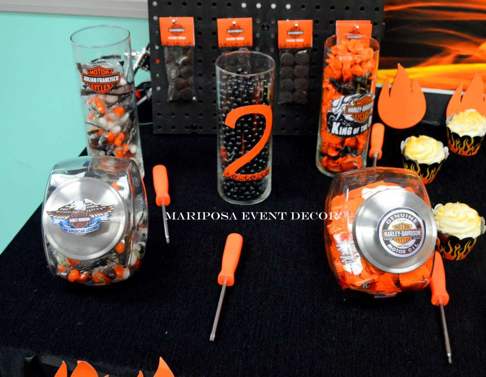 Best ideas about Harley Davidson Birthday Decorations . Save or Pin Harley Davidson Motorcycle Party Birthday Party Ideas Now.
