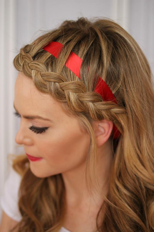 Headband Braids Hairstyles  Dutch Braided Headband with a Ribbon