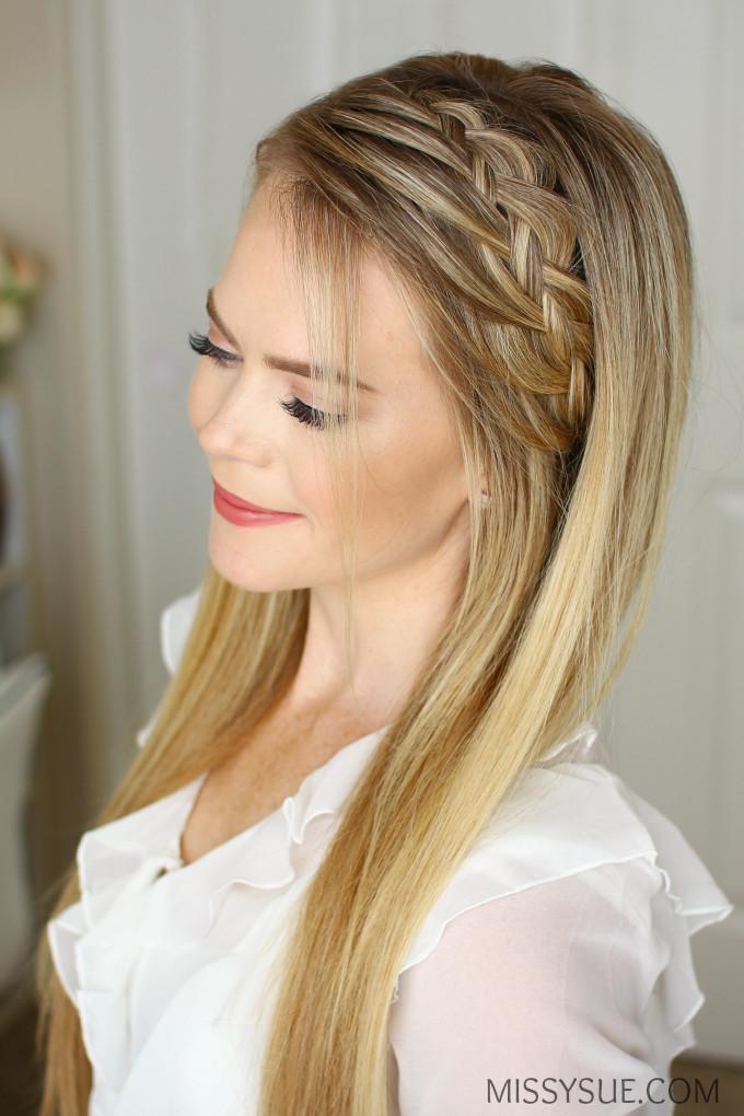 Headband Braids Hairstyles  Braided Headband Hairstyles For Medium Hair HairStyles