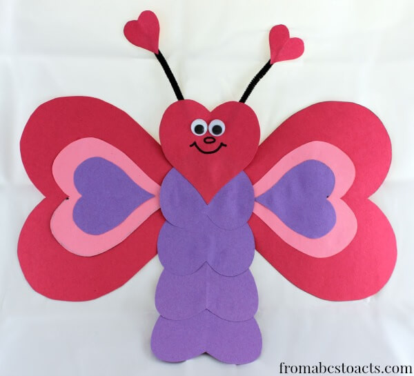 Heart Craft Ideas For Preschoolers  Valentine Crafts for Kids Heart Shaped Butterfly