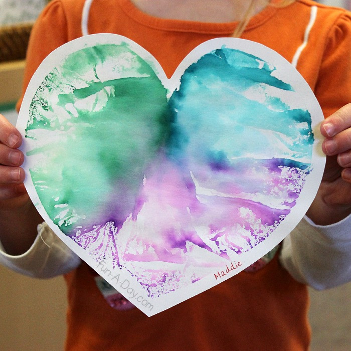 Heart Craft Ideas For Preschoolers  Heart Print Valentine Art Project for Preschoolers