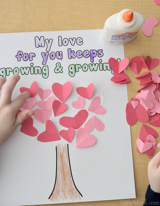 Heart Craft Ideas For Preschoolers  Heart Tree Craft for Kids Valentine s Day