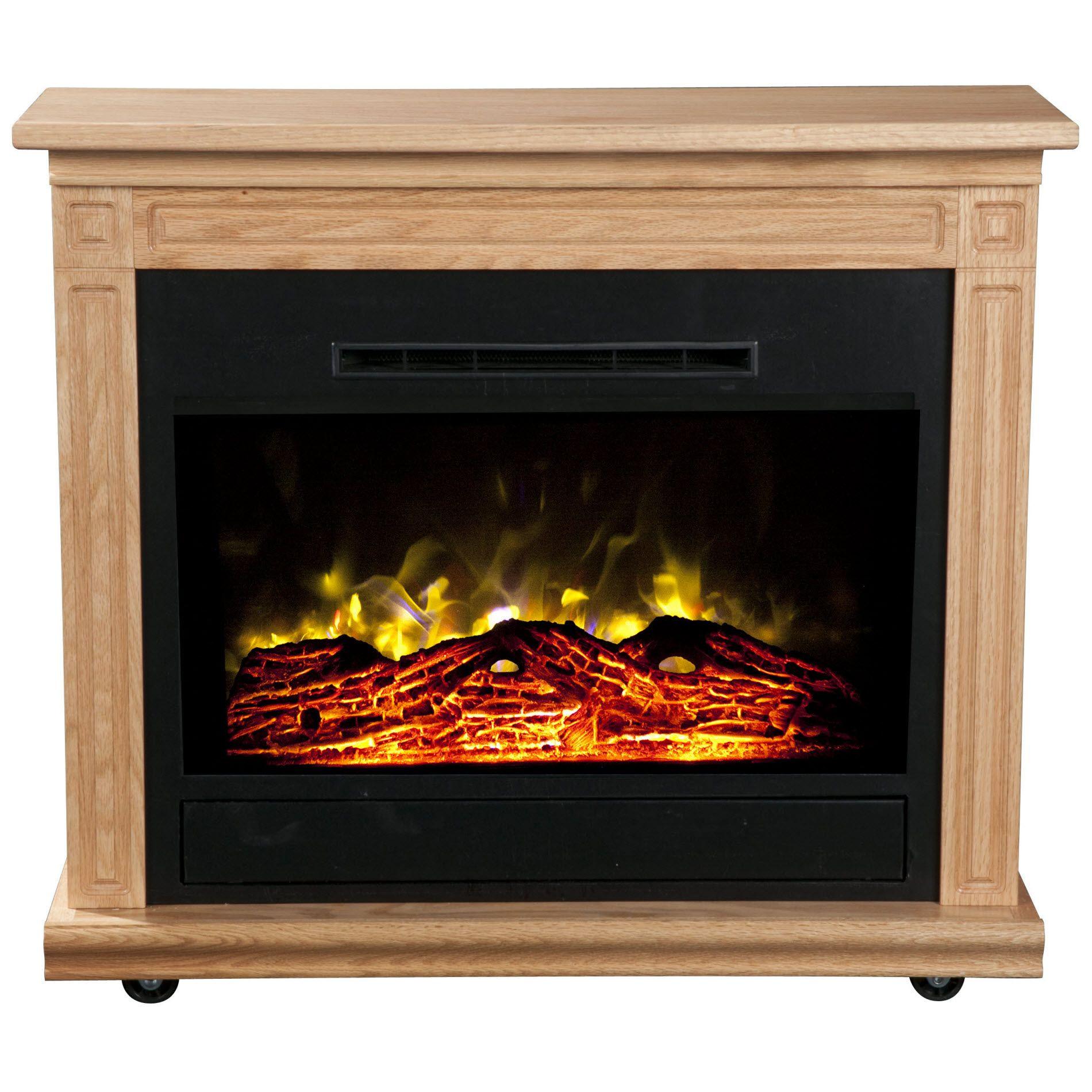 Best ideas about Heat Surge Electric Fireplace . Save or Pin Heat Surge Roll n Glow Electric Fireplace Light Oak Now.