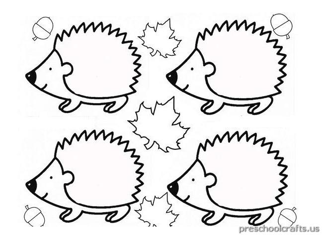 Hedgehog Coloring Pages  hedgehog coloring pages for kindergarten Preschool Crafts