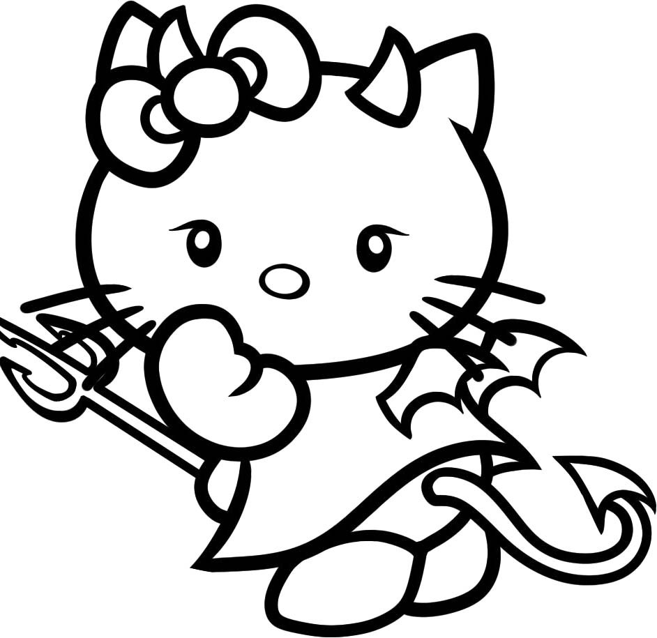 Hello Kitty Halloween Coloring Pages For Kids  Hello Kitty Halloween Coloring Pages AZ Coloring Pages