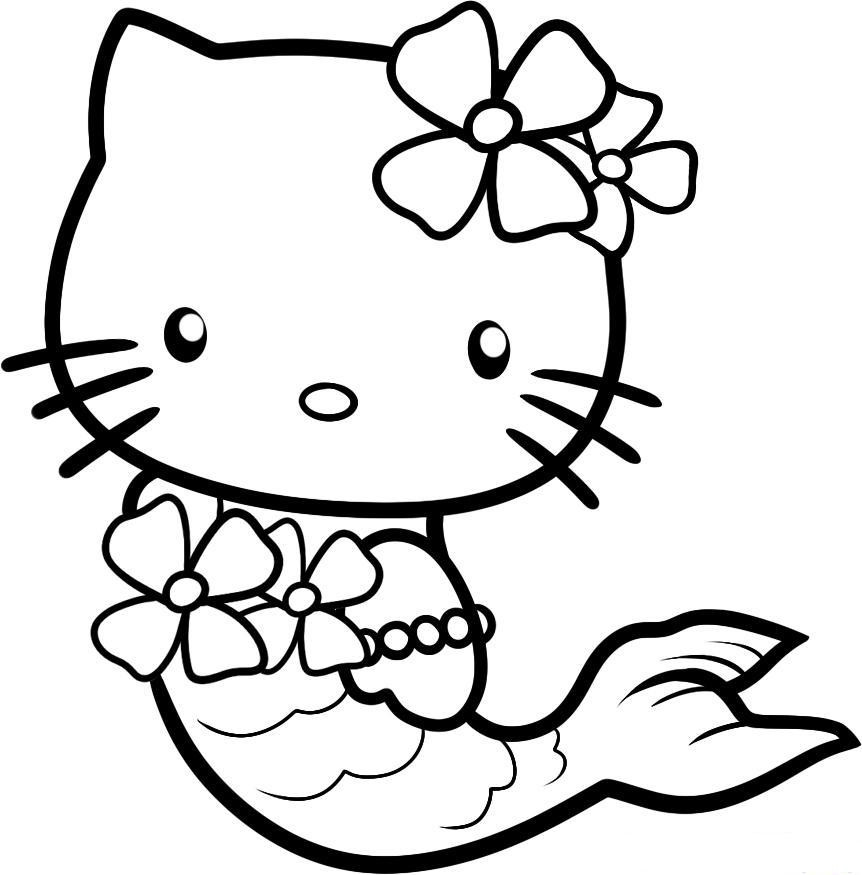 Hello Kitty Halloween Coloring Pages For Kids  Cute Halloween Coloring Pages For Kids Hello Kitty