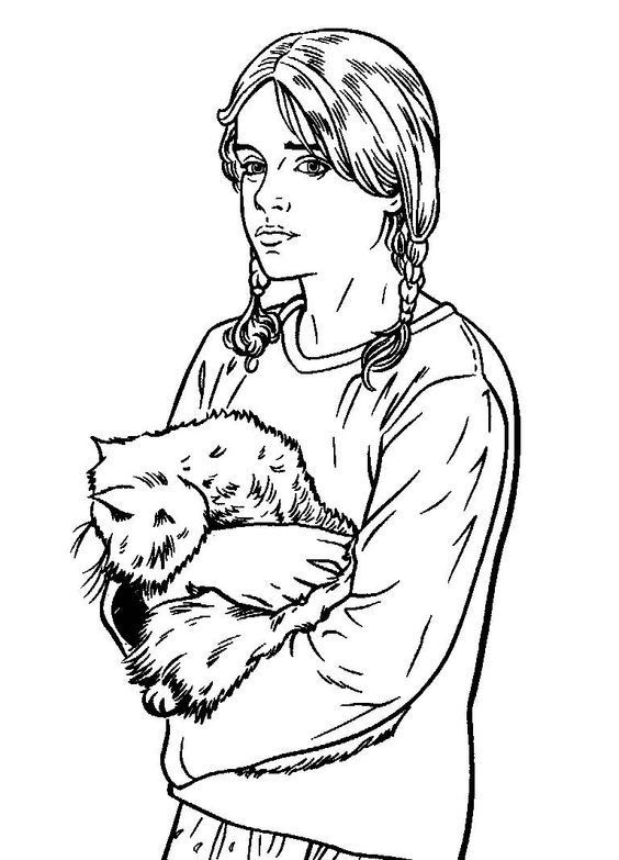Hermione Granger Coloring Pages  279 best Harry Potter Coloring Pages images on Pinterest